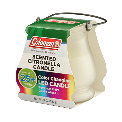 Coleman Color Changing LED Citronella Outdoor Scented Candle