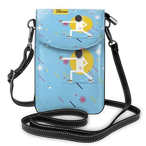 Hdadwy Kleine Umhängetasche Handy Geldbörse Brieftasche Fechten Ich Zaun Was ist Ihre Super Power Reise Reisepass Tasche Handtaschen für Frauen