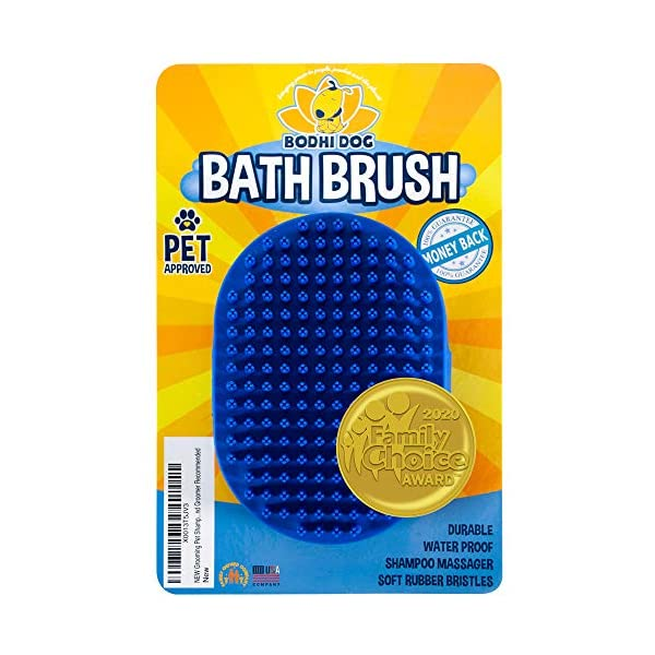 Bodhi Dog New Grooming Pet Shampoo Brush | Soothing Massage Rubber Bristles Curry...