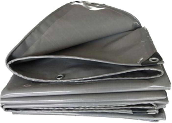 LIYFF-Bache Toile de Baches Prougeection Solaire Imperméable puissante Utilisée dans la Famille de Camping de Poncho Extérieur de Jardin, gris,13 Options de Taille De Plein air Imperméable
