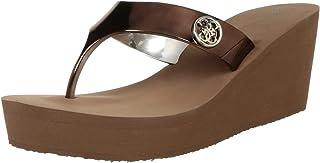 Guess Bronze Sy Flip-Flops - 5.5 UK (39 EU) (8 US) (gwSHADIA8-B)