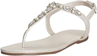 Pearl and Crystal T-Strap Sandals Style Sarina