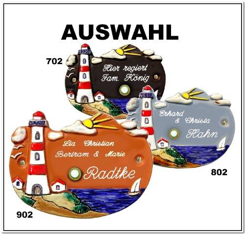 AUSWAHL: Klingelschild /Keramikschild 21x16cm Keramik Türschild Namensschild