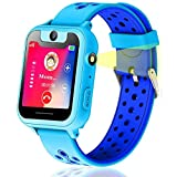 Vannico Montre GPS Enfant, Montre Enfants Garcon Voice Chat SOS Camera Torch Games Alarm Clock for Kids Gift Smart Watch Phone for School Children 3-14 Years Compatible with iOS/Android (Bleu)