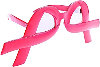 Sun-Staches Costume Sunglasses Pink Ribbon Breast Cancer Party Favors UV400