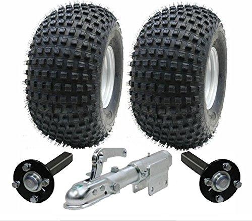 juego de remolque ATV - Quad remolque - ruedas Wanda + hub + y talón de enganche giratorio, 310kg