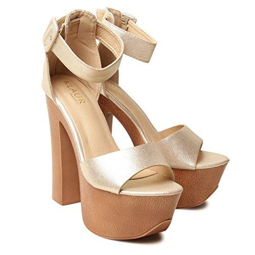Klaur Melbourne Women's Silver Fashion Sandal - 4 UK