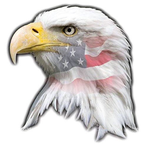 U.S. American Flag Eagle Head Magnet 3 Weather and UV Resistant