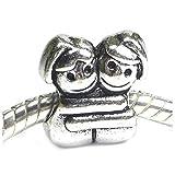 Sexy Sparkles - Abalorio para mujer, diseño de hermanas abrazadas.