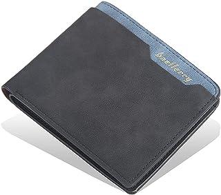 محفظة للرجال شامواة من بايليري محافظ رجالي جيب مع 6 جيوب للكروت و جيب للبطاقة (أسود)