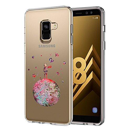 Coque Compatible pour Samsung Galaxy A8 2018,Ultra Flex Series Housse de Protection Souple avec Protection Flexible et Crystal TPU Premium Galaxy A8[Très Légère/Ajustement Parfait/Mince] (Prince)