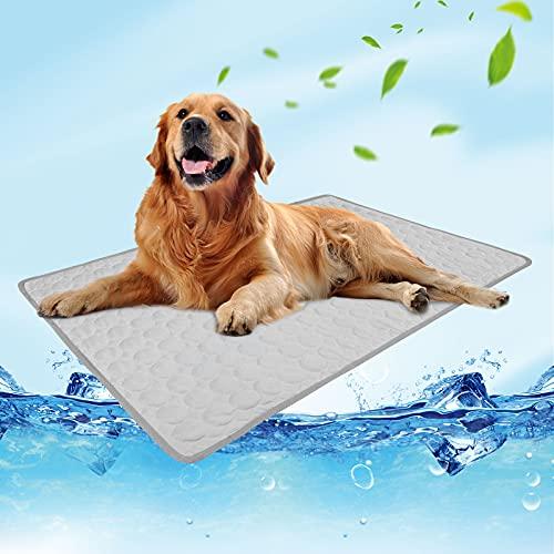 NIBESSER Alfombrilla de refrigeración para perros, esterilla de refrigeración para perros, impermeable, antideslizante, para casa, viajes o en el coche