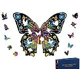 Rompecabezas de Madera   Rompecabezas de Animales de Madera de Mariposa de Forma única   Puzzle Animales para Adultos (Mariposa)