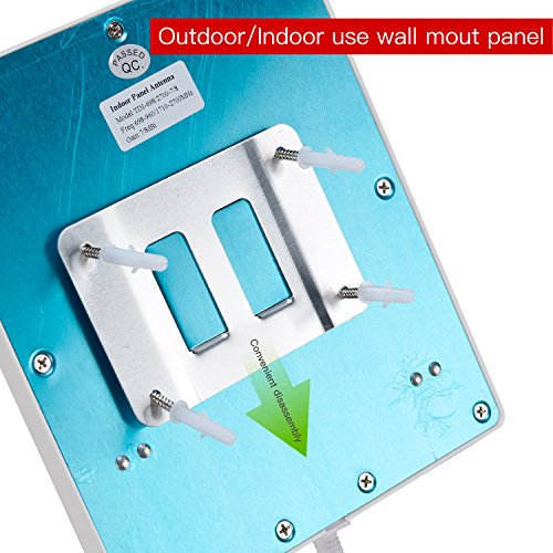 Lysignal Outdoor/Indoor Wall Mount Directional Panel Antenna 698 to 2700MHz 9dBi for Mobile Signal Booster