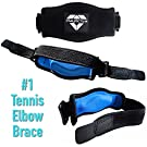Tennis Elbow Brace (2+2 Pack) for Tendonitis - Best Tennis & Golfer's Elbow Strap Band with Compression Pad - Relieves Forearm Pain - Includes Two Elbow Support Braces, Two Extra Straps & E-Guide #1