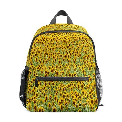 Mochila infantil para niños de 1 a 6 años de edad, mochila perfecta para niños y niñas de jardín de infancia y plantas de campo de girasol