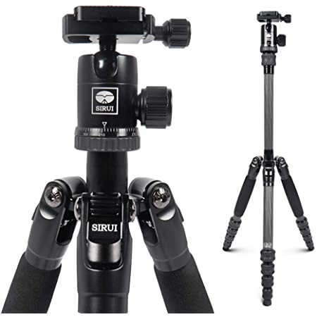 SIRUI Carbon Fiber Travel 5C Tripod 54.3 inches Lightweight Portable Camera Tripod with Ball Head and Arca Swiss Plate Load Capacity Up to 4kg