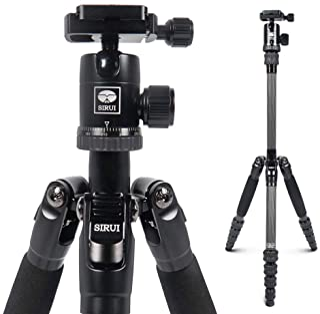 Sirui Compact Traveler 5C Tripod 54.3 inches Lightweight Carbon Fiber Travel Tripod Portable Camera Tripod with 360° Panor...