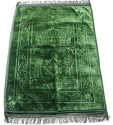 Alfombras Rezar Verde para Musulmanes - 120x80 Cm