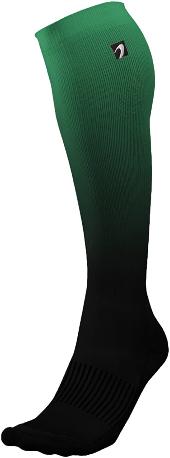 (Medium, Ombre Green)  Designer Compression Socks Graduated for Performance and Recovery by Acel