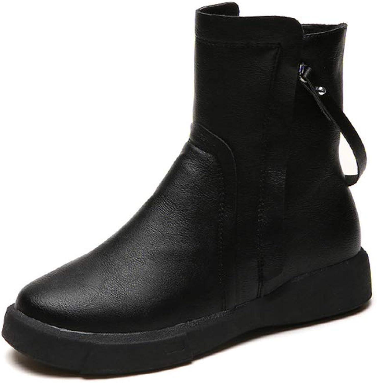 Super frist Women's Ankle Boots Flat Boots Warm Waterproof Martin Boots