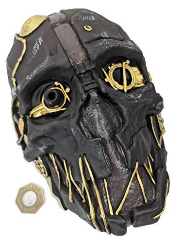 Dishonored Maske Corvo Attano Ratte Urethan Kostüm Cosplay Halloween + Spiel Münze