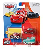 Disney Pixar Cars - Mini Racers 3 Pack - FLO, Red Ramone and Cruisin Lightning Mcqueen, Coches de metal