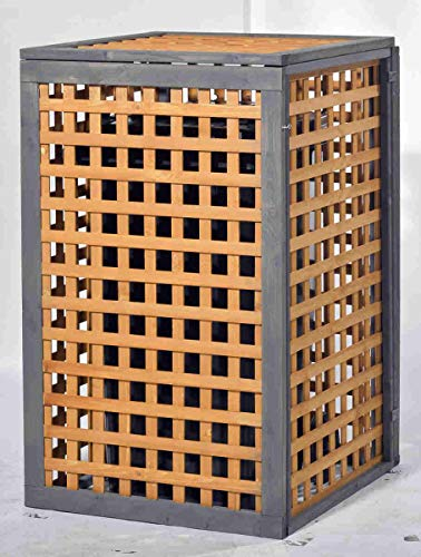 Holz Mülltonnenbox Kaprun für 1 x 240 Liter Mülltonne - 3