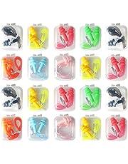 LuLyL 20 es un par de tapones para los oídos de silicona reutilizables. Tapones para los oídos suaves, impermeables y que reducen el ruido con tapones para los oídos (color aleatorio)