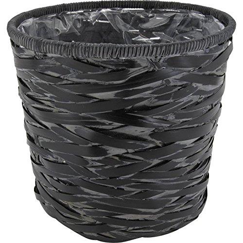 Lot de 4 cache-pots en bambou laqué noir