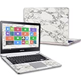 Mightyskins Skin Compatible with Samsung Notebook 7 Spin 13.3' (2016) Wrap Cover Sticker Skins White Marble