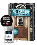 QUIZscape: Das Quiz-Escape Spiel - Rätsle Dich durch die Zeit + 5X Escape-Sticker + 1x Metall-Knobelei