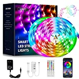 100ft LED Strip Lights Bluetooth,QINTIANL Color Changing Led Lights for Bedroom,Sync to Music Light Strips 100feet,Ultra Long App Control Led Light Strips with Remote