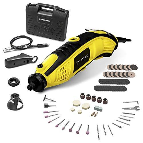 TROTEC Multiherramienta oscilante PMTS 01-230V, con 85 accesorios, 6 Velocidades, 170 W, incluye Maletín y Caja para los Accesorios, Bricolaje, Artesanías