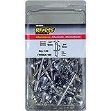 Surebonder FPC86A-100 1/4-inch Aluminum Medium Rivets (100 per Box)