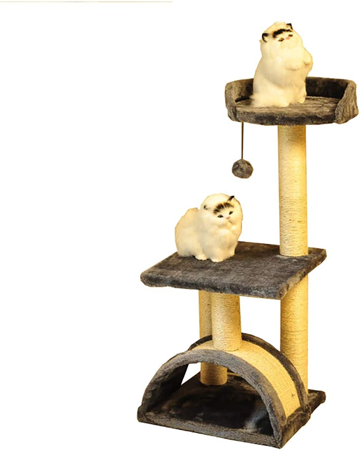 Pet stairs Pet Cat Tree, 3steps for Cat, Cat Climbing Frame, Cat Jumping Platform Cat Claw, Cat Supplies Stairs (color   Grey)