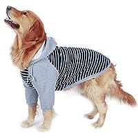 ハッピークレードル 大きな犬服 二足セーター 綿100% 高弾性犬服 ゴールデンレトリバー 太った犬 ラブラドール デュビン アラスカ ペットセーター 2色と5サイズ