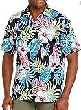 Tommy Bahama Konkan Jungle Silk Blend Camp Shirt, Black, X-Large