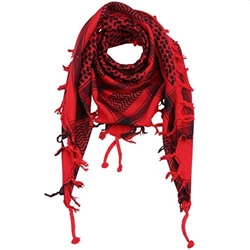 Superfreak Palituch - rot - schwarz - 100x100 cm - Pali Palästinenser Arafat Tuch - 100% Baumwolle