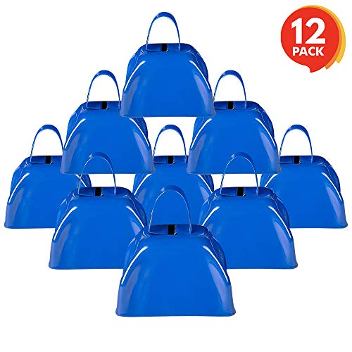 Amazing Deal ArtCreativity 3 Inch Blue Metal Cowbell Noisemakers - Pack of 12 - Loud Metal Cowbell N...
