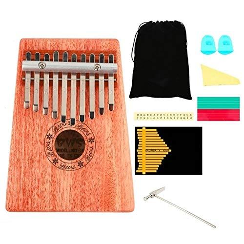 Kalimba, Daumenklavier 17 Keys Kalimba Mahagoni Daumenklavier Massivholz Daumenklavier Finger Mini-Tastatur Tragbare Musikinstrument for Anfänger (Color : Black)