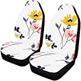 Fundas de asiento de coche Asientos delanteros 2 piezas Patrón floral de...