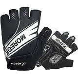 BIKINGMOREOK Cycling Gloves Bike Gloves,Gel Padded Shock Absorbing Road Cycling Gloves Anti Slip Mountain Bike Gloves for Men Women MK098-L