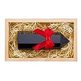 Crystalya Premium Quality 4' Large Healing Crystal Wand, Black Obsidian Crystal, Merkaba Symbol Engraving, Crystals and Healing Stones, Home Decor, Reiki, Chakra, Meditation - Wooden Gift Box