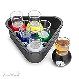 Final Touch Set of 6 Pool Shots - Lot de verres à Shot Shooter liqueur de billard Nouveauté (Lot de 6) FTA1836
