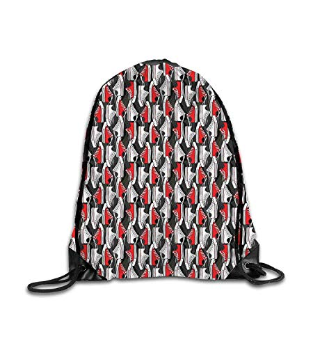 huatongxin Customized Backpack Old School Shoes Pattern Sneakers Nineties Casual Clothing Cartoon Vermilion White Grey Fitness Beam Backpack, Sports Backpack, School Bag