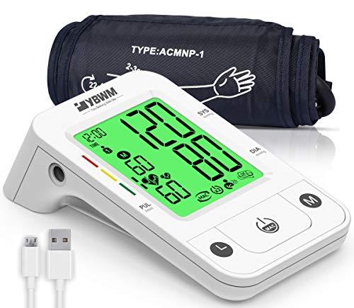 Tensiómetro de Brazo Digital, Medición Automática, Gran Pantalla LCD, Modo de Usuario dual 240 Memorias