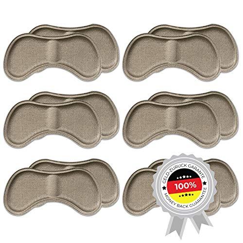 6 Paar komfortable Fersenpolster (verschiedene Farben) | Fersenhalter | Heel Pads | Schuheinlagen | für mehr Komfort und einen besser passenden Schuh | 6x Beige