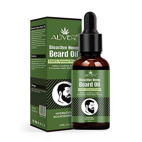 Aceite para el crecimiento de la barba, para hombres, aceite esencial, hidrata, calma, estimula el crecimiento y el brillo, para el cuidado de la barba larga y corta, 30 ml