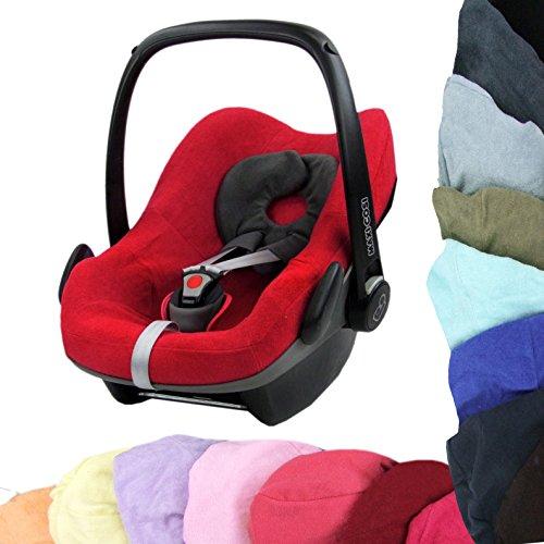 BambiniWelt - Funda de verano de felpa para capazo de cochecito de bebé para Maxi-Cosi Pebble rojo rojo